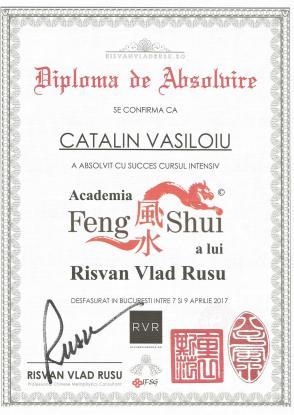 Diploma FENG SHUI Catalin Vasiloiu