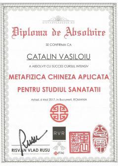 Diploma MC Studiul sanatatii Catalin Vasiloiu
