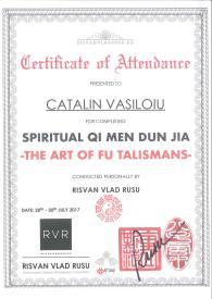 Diploma QM Spiritual - Arta talismanelor Fu Catalin Vasiloiu